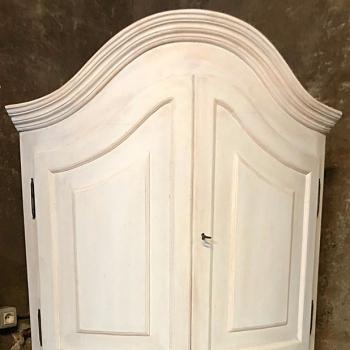 Angoliera curva rarità Toscana colore bianco shabby