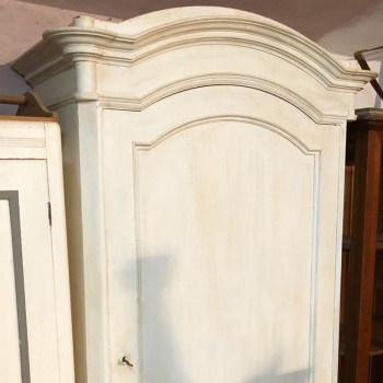 Armadio a una anta antico originale toscano bianco shabby