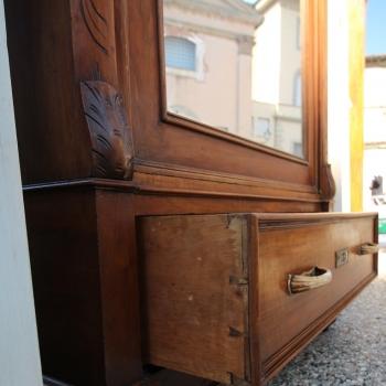 Antichita toscana armadio in noce un anta specchio for Specchio noce