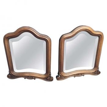Coppia di specchi originali antichi sagomati