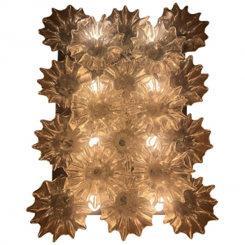 Lampadario di Murano a 8 luci Barovier & Toso
