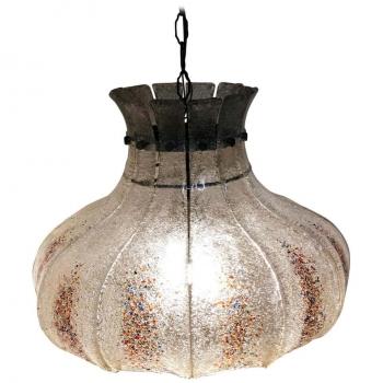 Lampadario di Murano a dodici vetri anni 70