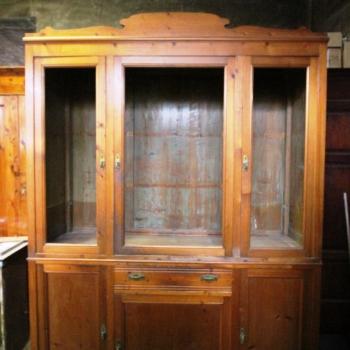 Libreria vetrina antica in abete