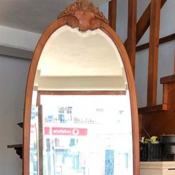 Mobile con specchio molato semiovale da ingresso