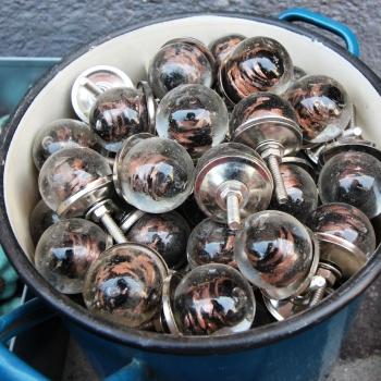 Pomello sferico vetro liscio