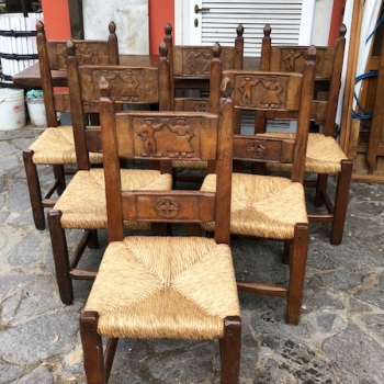 sedie in castagno tipo Tarpac