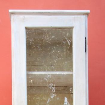 Stipo a vetro un'anta bianco dx