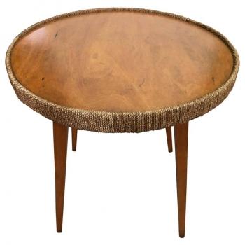 Tavolino da salotto anni 70 in legno di faggio