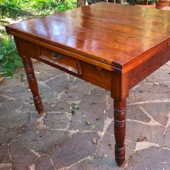 Tavolo antico toscano originale in ciliegio massello allungabile