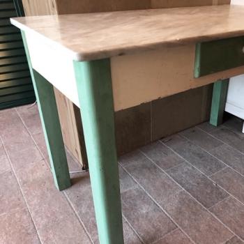 Tavolo con marmo toscano originale antico