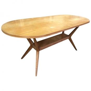 Tavolo design anni 60 in castagno
