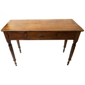 Tavolo scrivania originale anni 20 in castagno e abete