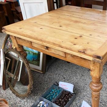 Tavolo toscano originale antico con prolunghe in abete