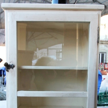 Vetrina libreria bianca dx