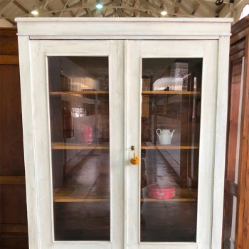 Vetrina libreria smontabile toscana in abete