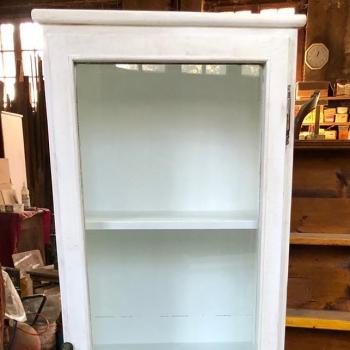 Vetrinetta libreria dispensa colore bianco shabby